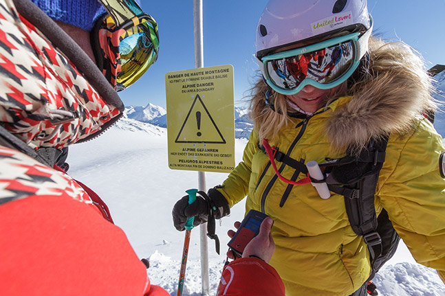 special equipment for ski touring and freeride skiing