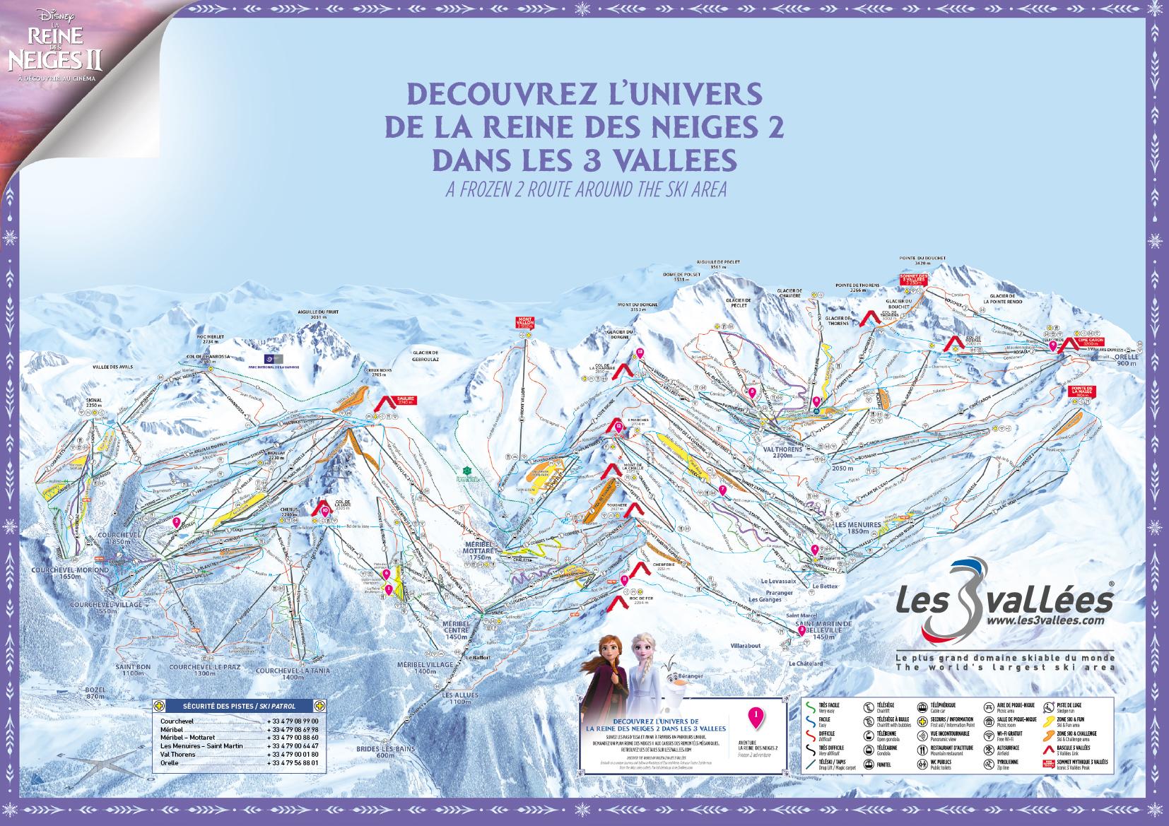 frozen 2 route in les 3 vall es activiteiten vermaak in val thorens
